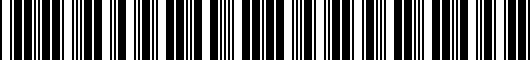 Barcode for PT2060318002