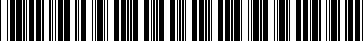 Barcode for PT2066001201