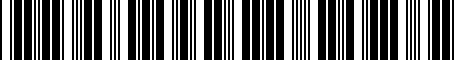 Barcode for PT42003023