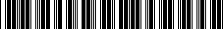 Barcode for PT9070C111