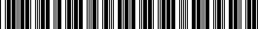 Barcode for PT9384213020