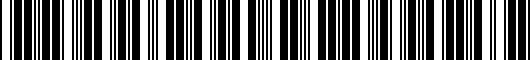 Barcode for PTS0260031DR