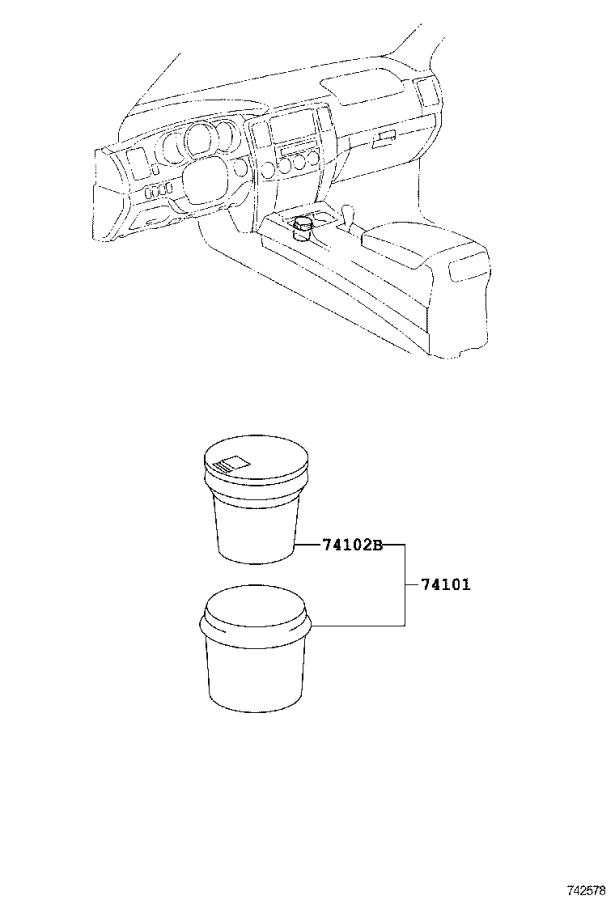 Diagram ASH RECEPTACLE for your Toyota Yaris iA